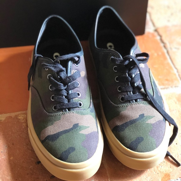 Coach Shoes - NIB Coach Tennis Camo shoes green Camo shoes sz 10
